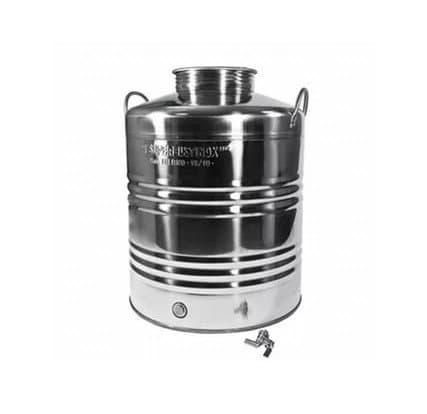 Традиционная бочка с краном на 25 литров из нержавеющей стали Sansone - фото 6079