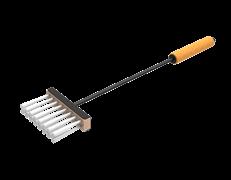 Щетка, Grillver с деревянной ручкой