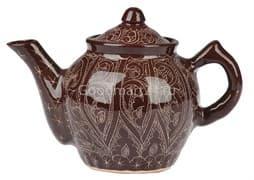 Чайник заварочный Риштанская Керамика 1 л. коричневый