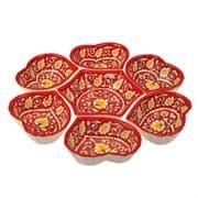 Салатница набор из 7 блюд, 40 см. красная